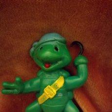 Figuras y Muñecos Tortugas Ninja: TORTUGA NINJA PIRATA PLÁSTICO MACIZO, TORTUGAS NINJA RARA BOOTLEG. Lote 108014103