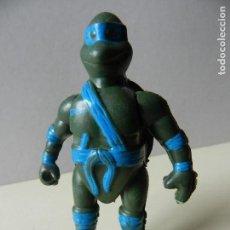 Figuras y Muñecos Tortugas Ninja: FIGURA TORTUGAS NINJA LEONARDO AZUL BOOTLEG PVC TORTUGA. Lote 108708267
