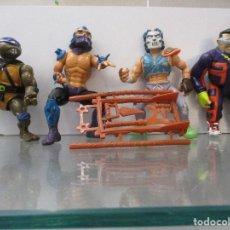 Figuras y Muñecos Tortugas Ninja: COLECCION TORTUGAS NINJA CON COMPLEMENTOS. Lote 112515311