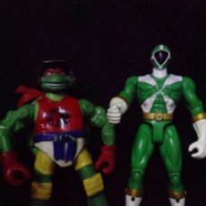Figuras y Muñecos Tortugas Ninja: LOTE MU?ECO TORTUGA BOOTLEG Y POWER RANGER. Lote 113523251
