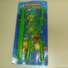 Figuras y Muñecos Tortugas Ninja: 918- TEENAGE MUTANT HERO TORTUGAS (ESPADA) 1991 REF 8112 JOSMAN OLD STOCK 5. Lote 116552167