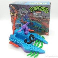 Figuras y Muñecos Tortugas Ninja: TORTUGAS NINJA TURTLES PATIN A REACCIÖN FUTURISTA JET-SKI FOOT BANDAI 1989. Lote 117068775