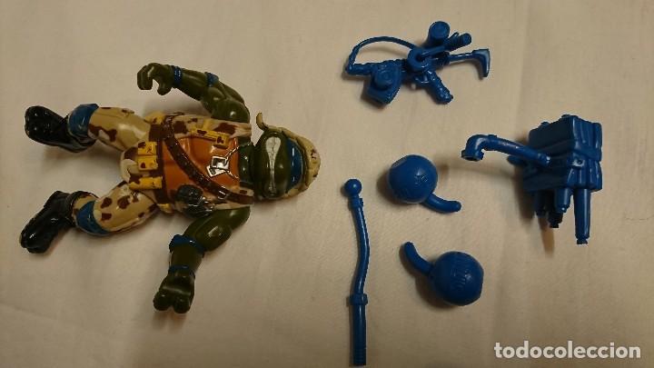 Figuras y Muñecos Tortugas Ninja: TORTUGA NINJA, LEONARDO, MILITAR, VINTAGE - Foto 2 - 117583035