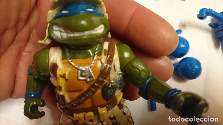 Figuras y Muñecos Tortugas Ninja: TORTUGA NINJA, LEONARDO, MILITAR, VINTAGE - Foto 5 - 117583035