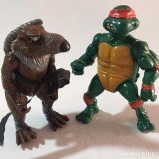 Figuras y Muñecos Tortugas Ninja: LOTE MUÑECO FIGURA LAS TORTUGAS NINJA 1988 SPLINTER Y MICHELANGELO MIRAGE STUDIOS. Lote 118163743