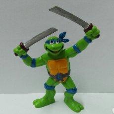 Figuras y Muñecos Tortugas Ninja: FIGURA TORTUGAS NINJA BULLYLAND LEONARDO FIGURAS PVC BULLYLAND TURTTLES NINJA. Lote 118230340