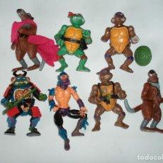Figuras y Muñecos Tortugas Ninja: LOTE 7 FIGURAS TORTUGAS NINJA ORIGINALES PLAYMATE TOYS Y BOOTLEG AÑOS 80. Lote 118746143