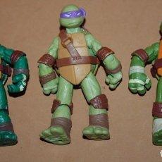 Figuras y Muñecos Tortugas Ninja: LOTE TRES TORTUGAS NINJA VIACOM 2012. Lote 122959715