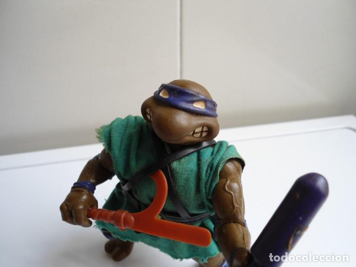 Figuras y Muñecos Tortugas Ninja: DONATELLO - TORTUGAS NINJA - FIGURA DE LA CASA PLAYMATES 1988 - CON ARMA - MUY BUEN ESTADO - Foto 2 - 123502547
