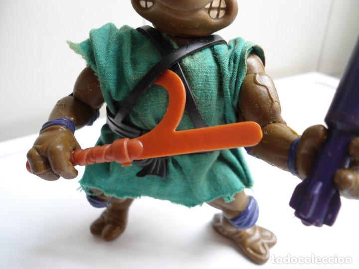Figuras y Muñecos Tortugas Ninja: DONATELLO - TORTUGAS NINJA - FIGURA DE LA CASA PLAYMATES 1988 - CON ARMA - MUY BUEN ESTADO - Foto 4 - 123502547
