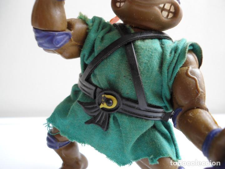 Figuras y Muñecos Tortugas Ninja: DONATELLO - TORTUGAS NINJA - FIGURA DE LA CASA PLAYMATES 1988 - CON ARMA - MUY BUEN ESTADO - Foto 5 - 123502547