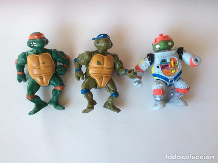 FIGURA TORTUGAS NINJA - LOTE DE 3 MUÑECOS MIRAGE STUDIOS AÑOS 90 (Juguetes - Figuras de Acción - Tortugas Ninja)