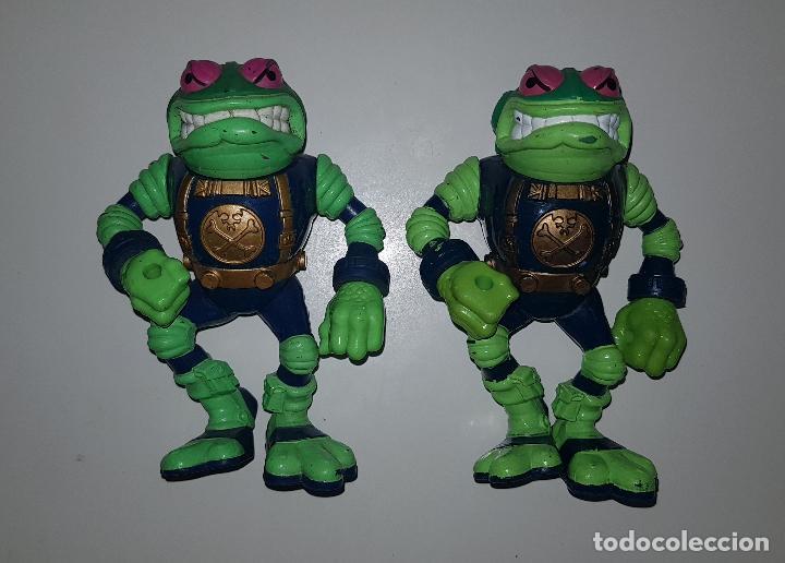 LOTE DE 2 FIGURAS TORMENTOSO DE BUCKY O'HARE (TORTUGAS NINJA TURTLES PLAYMATES HASBRO) (Juguetes - Figuras de Acción - Tortugas Ninja)