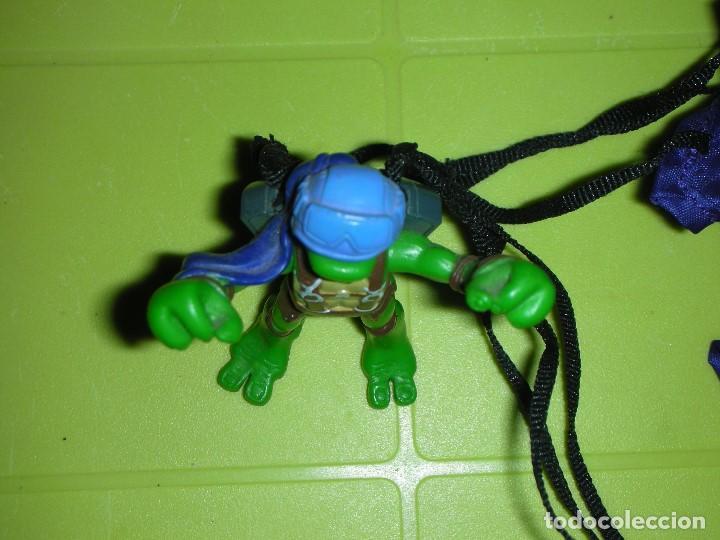 Figuras y Muñecos Tortugas Ninja: TORTUGA NINJA PARACAIDAS DESPLEGABLE TMNT PLAYMATES MIRAGE STUDIOS - Foto 4 - 129660331