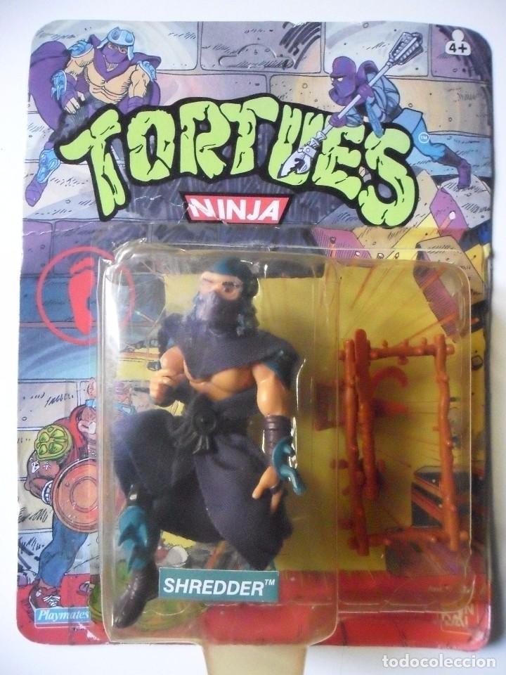VINTAGE TMNT TEENAGE MUTANT NINJA TURTLES 10 BACK SHREDDER MIRAGE STUDIOS BANDAI 1988 (Juguetes - Figuras de Acción - Tortugas Ninja)