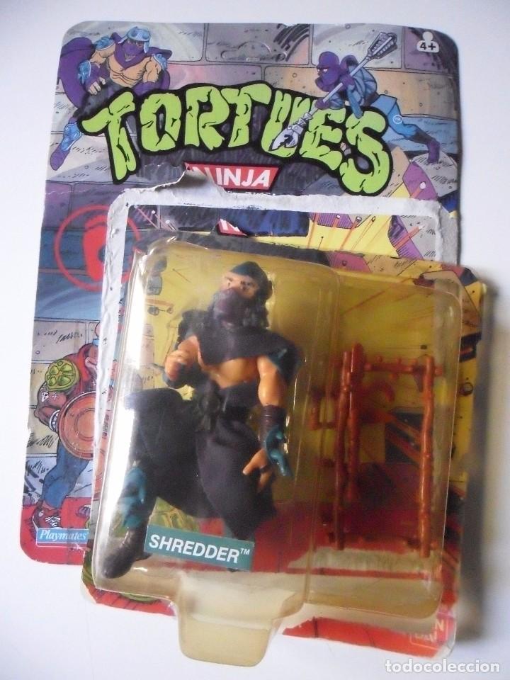 Figuras y Muñecos Tortugas Ninja: VINTAGE TMNT TEENAGE MUTANT NINJA TURTLES 10 BACK SHREDDER MIRAGE STUDIOS BANDAI 1988 - Foto 2 - 132525274