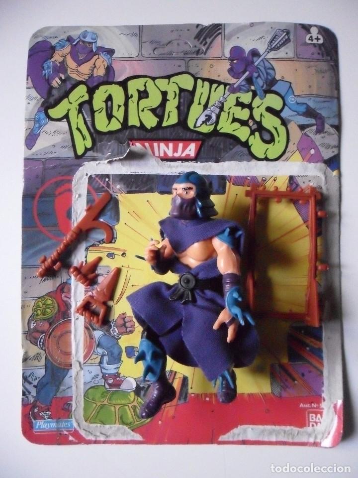 Figuras y Muñecos Tortugas Ninja: VINTAGE TMNT TEENAGE MUTANT NINJA TURTLES 10 BACK SHREDDER MIRAGE STUDIOS BANDAI 1988 - Foto 3 - 132525274
