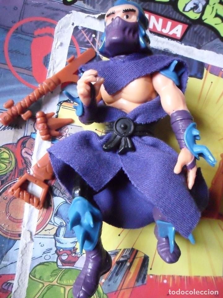 Figuras y Muñecos Tortugas Ninja: VINTAGE TMNT TEENAGE MUTANT NINJA TURTLES 10 BACK SHREDDER MIRAGE STUDIOS BANDAI 1988 - Foto 4 - 132525274