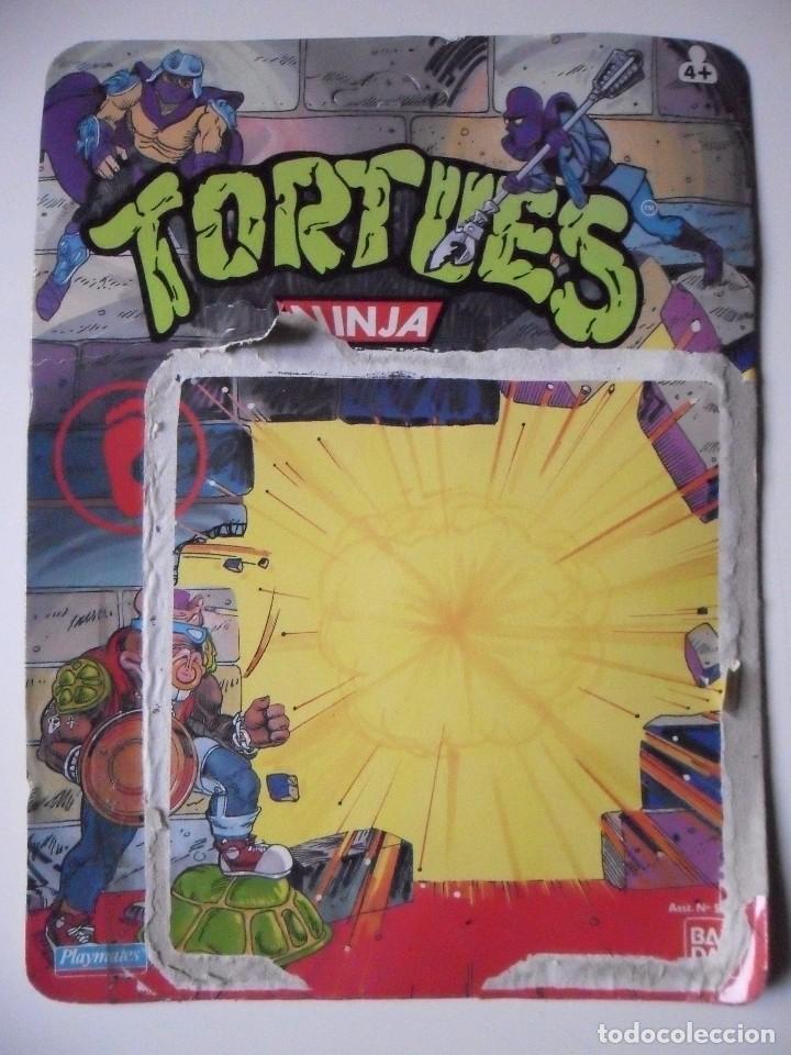 Figuras y Muñecos Tortugas Ninja: VINTAGE TMNT TEENAGE MUTANT NINJA TURTLES 10 BACK SHREDDER MIRAGE STUDIOS BANDAI 1988 - Foto 7 - 132525274