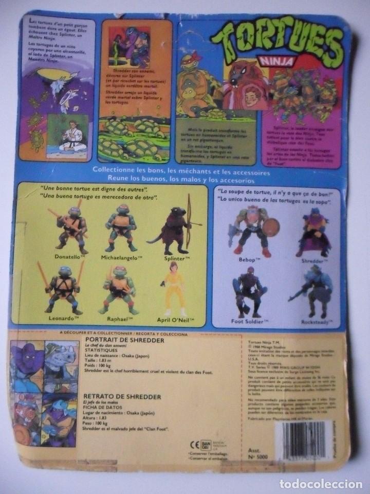 Figuras y Muñecos Tortugas Ninja: VINTAGE TMNT TEENAGE MUTANT NINJA TURTLES 10 BACK SHREDDER MIRAGE STUDIOS BANDAI 1988 - Foto 8 - 132525274