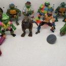 Figuras y Muñecos Tortugas Ninja: LOTE 12 FIGURAS + MOTO TORTUGAS NINJA TMNT PLAYMATES 1988-92,SPLINTER,DONATELLO,MICHELANGELO,BOOTLEG. Lote 132831490
