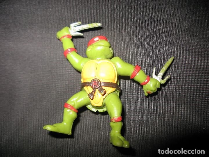 TMNT TEENAGE MUTANT NINJA TURTLES RAPHAEL FIGURA KINDER MIRAGE STUDIOS 1988 (Juguetes - Figuras de Acción - Tortugas Ninja)