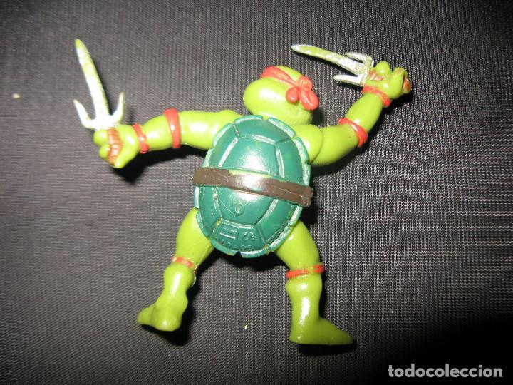 Figuras y Muñecos Tortugas Ninja: TMNT TEENAGE MUTANT NINJA TURTLES RAPHAEL FIGURA KINDER MIRAGE STUDIOS 1988 - Foto 2 - 133481222