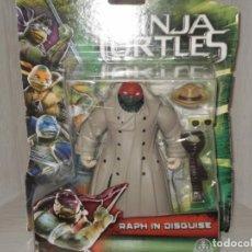 Figurines et Jouets Tortues Ninja: BLISTER SIN ABRIR NINJA TURTLES , * RAPH IN DISGUISE * , GIOCHI PREZIOSI ESPAÑA , AÑO 2014. Lote 136257790
