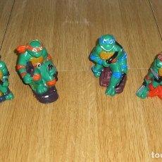 Figuras y Muñecos Tortugas Ninja: 4 TORTUGAS NINJA EN YESO - PINTADAS A MANO.. Lote 136316862