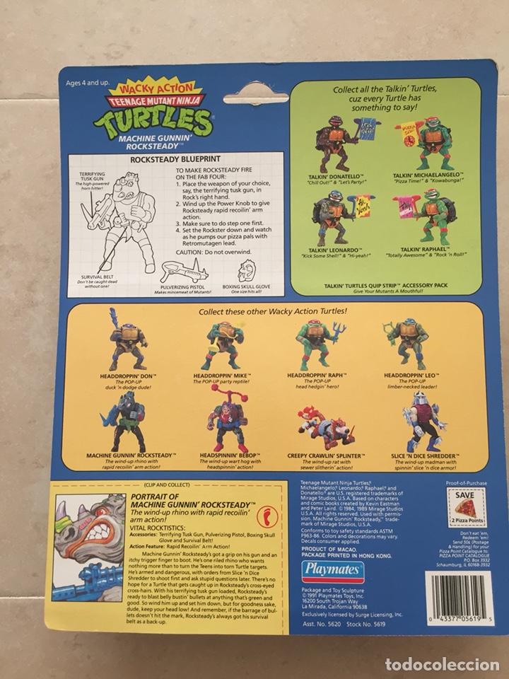 Figuras y Muñecos Tortugas Ninja: Figura Rocksteady - Tortugas Ninja TMNT - Teenage Mutant Ninja Turtles - Burbuja agrietada - Foto 2 - 142722758