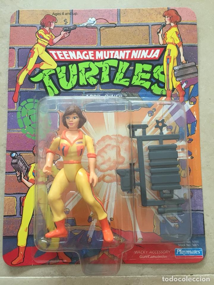 FIGURA APRIL O'NEIL - TORTUGAS NINJA TMNT - TEENAGE MUTANT NINJA TURTLES - BURBUJA AGRIETADA (Juguetes - Figuras de Acción - Tortugas Ninja)