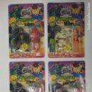 Figuras y Muñecos Tortugas Ninja: UNIVERSAL MONSTERS - SERIE I - TMNT - 1993 - DRÁCULA - FRANKENSTEIN - WOLFMAN - NUMMY. Lote 142260298
