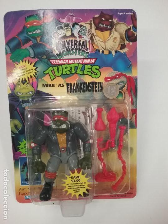 Figuras y Muñecos Tortugas Ninja: UNIVERSAL MONSTERS - SERIE I - TMNT - 1993 - DRÁCULA - FRANKENSTEIN - WOLFMAN - NUMMY - Foto 2 - 142260298