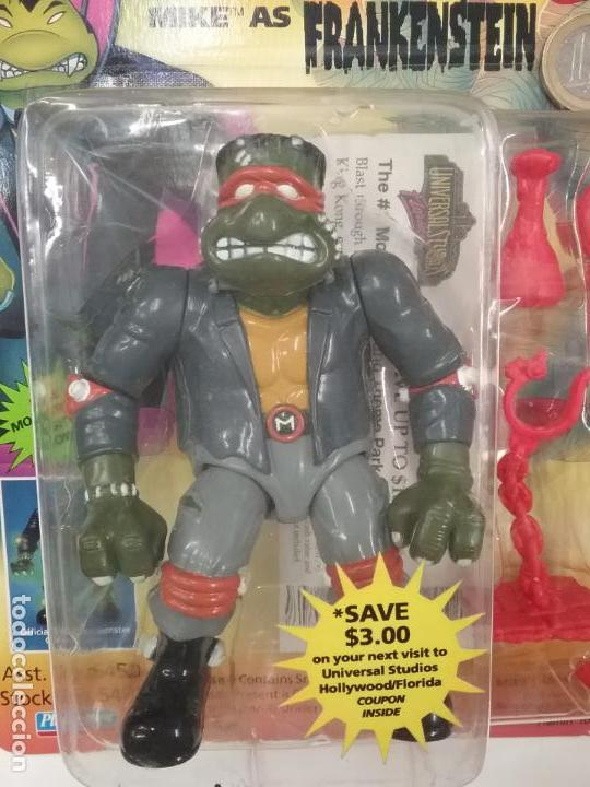 Figuras y Muñecos Tortugas Ninja: UNIVERSAL MONSTERS - SERIE I - TMNT - 1993 - DRÁCULA - FRANKENSTEIN - WOLFMAN - NUMMY - Foto 3 - 142260298