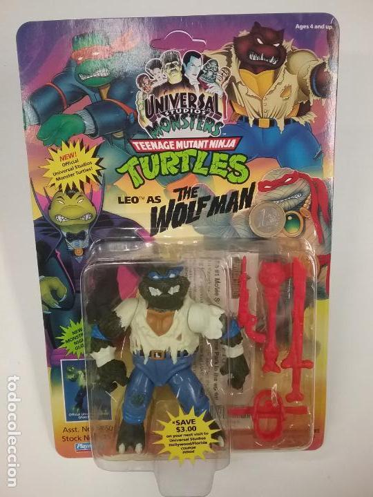 Figuras y Muñecos Tortugas Ninja: UNIVERSAL MONSTERS - SERIE I - TMNT - 1993 - DRÁCULA - FRANKENSTEIN - WOLFMAN - NUMMY - Foto 5 - 142260298