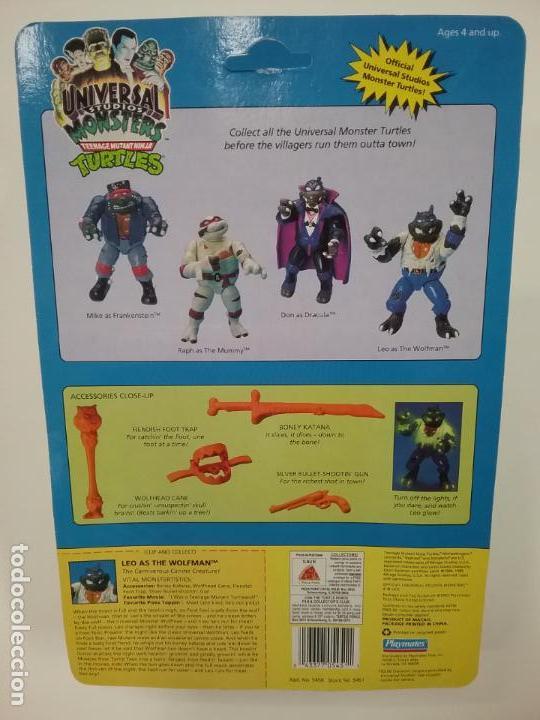 Figuras y Muñecos Tortugas Ninja: UNIVERSAL MONSTERS - SERIE I - TMNT - 1993 - DRÁCULA - FRANKENSTEIN - WOLFMAN - NUMMY - Foto 7 - 142260298