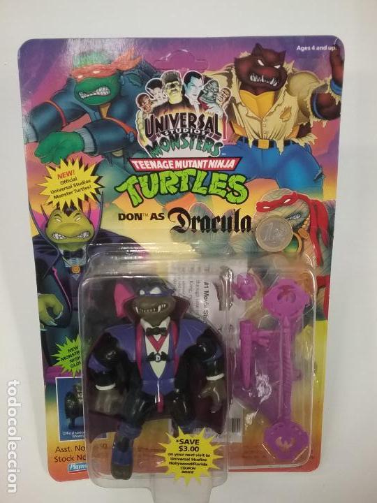 Figuras y Muñecos Tortugas Ninja: UNIVERSAL MONSTERS - SERIE I - TMNT - 1993 - DRÁCULA - FRANKENSTEIN - WOLFMAN - NUMMY - Foto 8 - 142260298