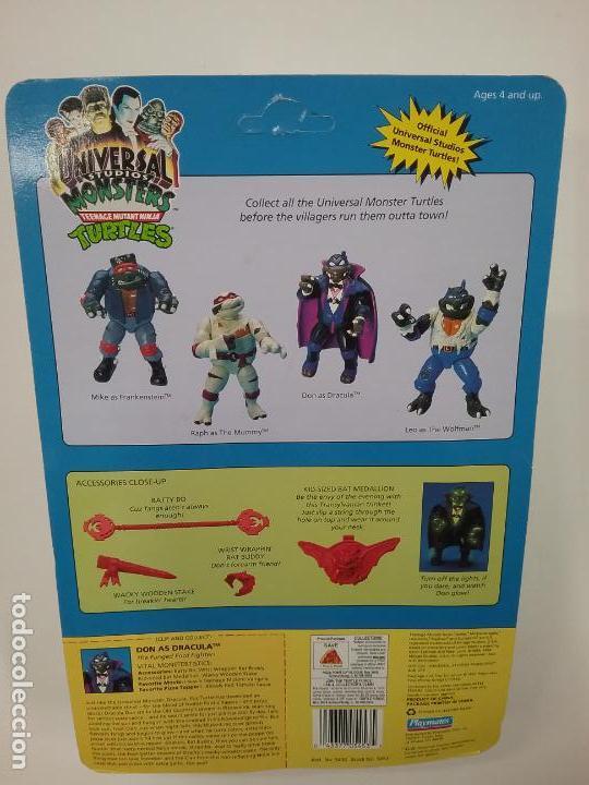 Figuras y Muñecos Tortugas Ninja: UNIVERSAL MONSTERS - SERIE I - TMNT - 1993 - DRÁCULA - FRANKENSTEIN - WOLFMAN - NUMMY - Foto 10 - 142260298