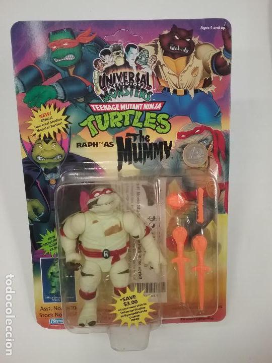 Figuras y Muñecos Tortugas Ninja: UNIVERSAL MONSTERS - SERIE I - TMNT - 1993 - DRÁCULA - FRANKENSTEIN - WOLFMAN - NUMMY - Foto 11 - 142260298