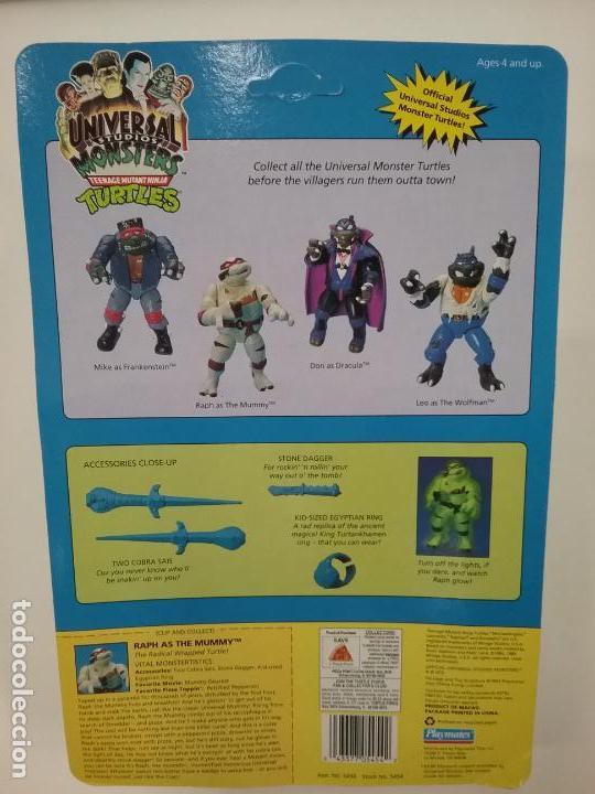 Figuras y Muñecos Tortugas Ninja: UNIVERSAL MONSTERS - SERIE I - TMNT - 1993 - DRÁCULA - FRANKENSTEIN - WOLFMAN - NUMMY - Foto 13 - 142260298