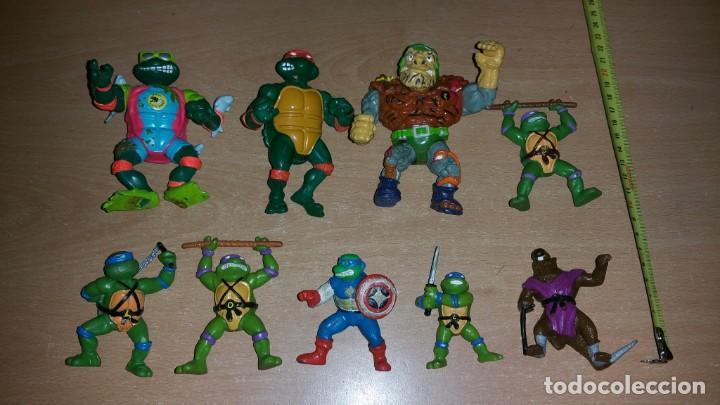 8 FIGURAS TORTUGAS NINJA MIRAGE PLAYMATES YOLANDA AÑO 1988 (Juguetes - Figuras de Acción - Tortugas Ninja)