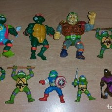 Figuras y Muñecos Tortugas Ninja: 9 FIGURAS TORTUGAS NINJA MIRAGE PLAYMATES YOLANDA AÑO 1988. Lote 142705630
