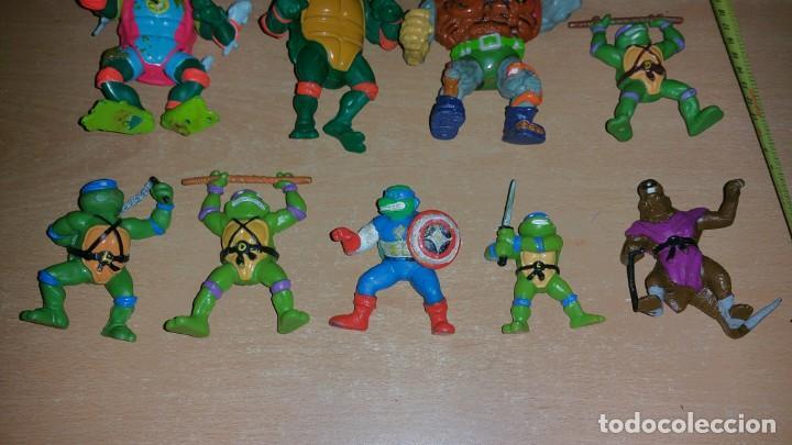 Figuras y Muñecos Tortugas Ninja: 8 figuras Tortugas Ninja Mirage playmates Yolanda año 1988 - Foto 2 - 142705630
