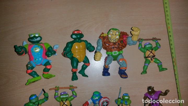 Figuras y Muñecos Tortugas Ninja: 8 figuras Tortugas Ninja Mirage playmates Yolanda año 1988 - Foto 3 - 142705630