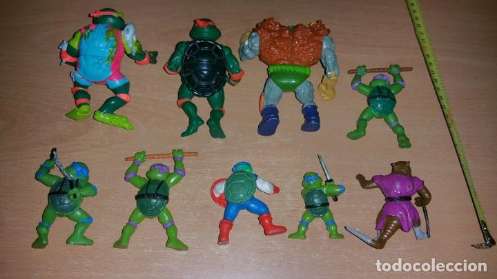 Figuras y Muñecos Tortugas Ninja: 8 figuras Tortugas Ninja Mirage playmates Yolanda año 1988 - Foto 4 - 142705630