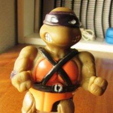Figuras y Muñecos Tortugas Ninja: TORTUGA NINJA DONATELLO. 11 CM. ENVASE CARAMELOS MIGUELAÑEZ. AÑO 1990.. Lote 142778218