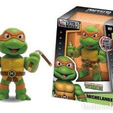 Figuras y Muñecos Tortugas Ninja: METALS DIE CAST FIGURA DE MICHELANGELO NINJA TURTLES MUTANT - 10.16.CM ALTO APROX EN CAJA RIGINAL. Lote 143405594