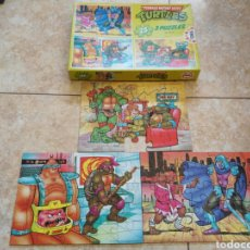 Figuras y Muñecos Tortugas Ninja: 3 PUZZLES TORTUGAS NINJA. Lote 144343132