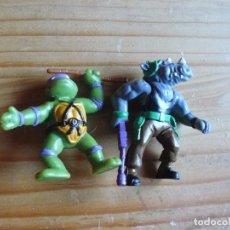 Figuras y Muñecos Tortugas Ninja: 2 FIGURAS DE PLASTICO O PVC DE LAS TORTUGAS NINJA. Lote 150125818