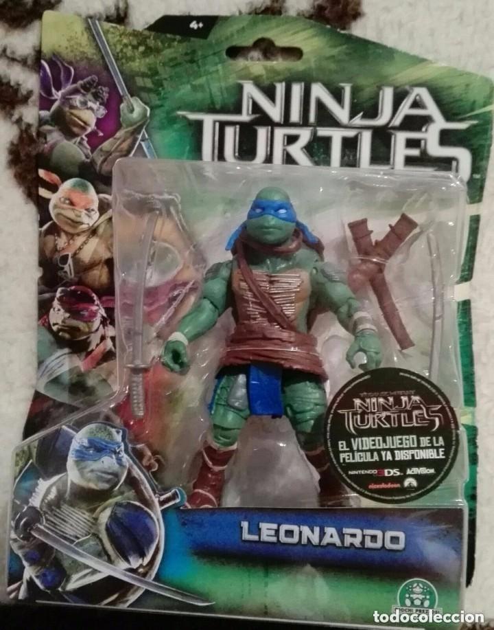 TORTUGA NINJA LEONARDO ARTICULADA. (Juguetes - Figuras de Acción - Tortugas Ninja)
